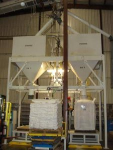 double bulk bagger for grain