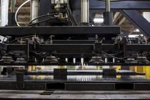 A photo of a manufacturing press.