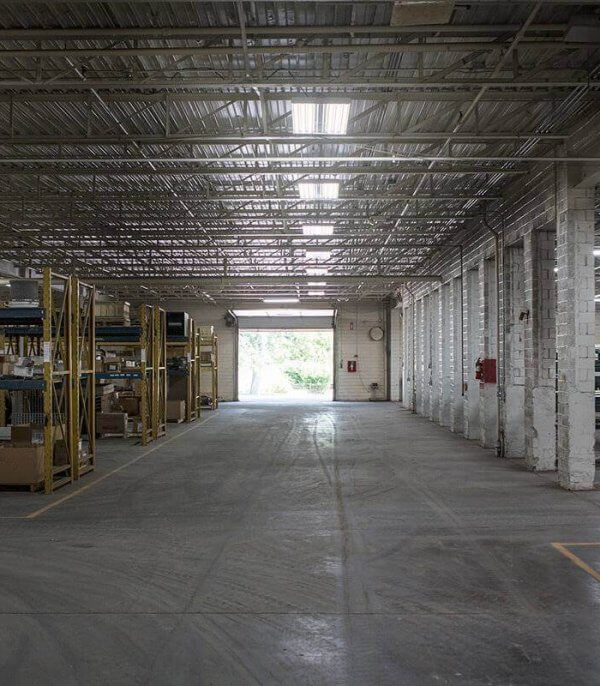 A picture of rows of shelving and equipment at the O'Mara facilities.