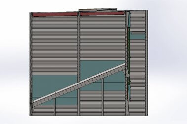 a rendering of a single-point reversing air door