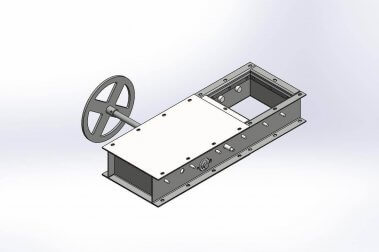 A rendering of an RP slide gate.