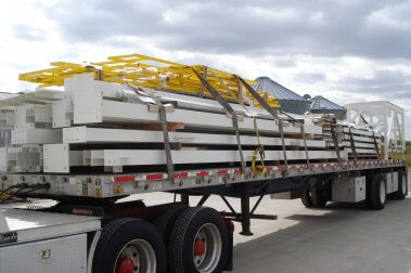 structure loaded up for transportation