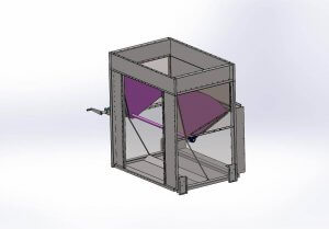 A rendering of an air diverter damper.